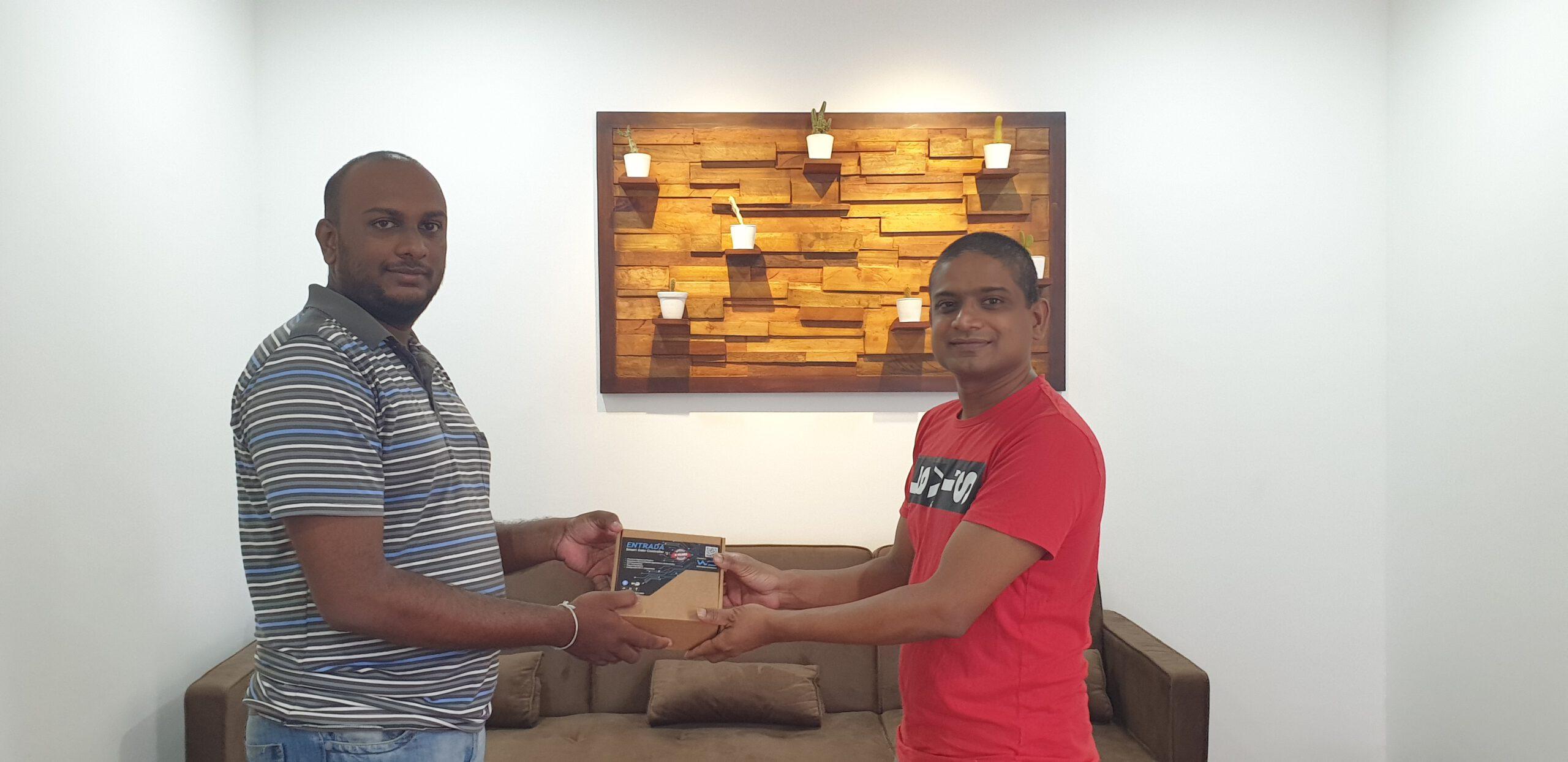 Entrada® Installation of Mr. Aruna Walpita's Residence – Thalawathugoda